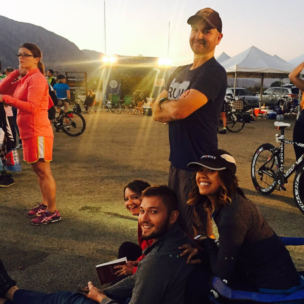 Some of Rob's crew at this weekend's 24 hour race in Borrego Springs, CA.